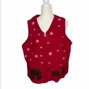Breckinridge Woman winter theme fleece vest